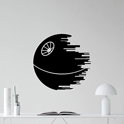 Home & Garden Star Wars Death Star Wall Stickers For Kids Rooms Wall Decals Art Home Decor Boys Gifts Bedroom Living Room Wall Paper