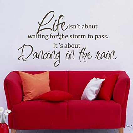 MairGwall Inspirational Vinyl Wall Sticker Dancing in the Rain Quotes Decor  for Living Room,Office Room,Bedroom£¨19\