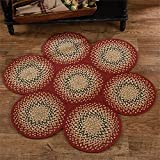 Park Designs Country Mill Village 7 Circle Cotton Braided Rug Pads Kitchen Linens