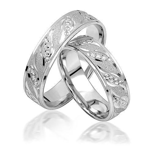 alianzas alianzas de anillos de compromiso Amistad Anillos Plata de ley 925 * Incluye Funda *