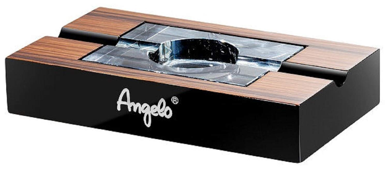 Massiver Zigarrenaschenbecher 2 Ablagen Klavierlack Humidor