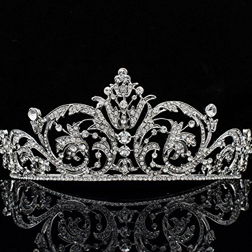 Europe Palace Style Clear Tiaras Wedding Crowns Bridal Hair Jewelry Women Hair Accessories with Crystal XBY158CLE