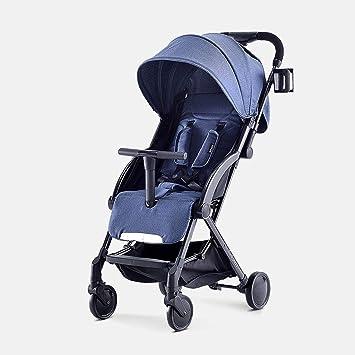 XYQ Carrito para bebés Carrito para bebés Ultralight Portable Can Sit/Lie Plegable Amortiguador Trolley
