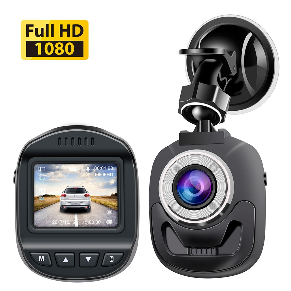 Accfly Dash Cam 1080P,Mini Dash Cam Dash Camera with 120 Degree Wide Angle Lens Digital Car Dashboard Camera Driving Video Recorder WDR, Loop Recording, Motion Detection G-Sensor by Accfly