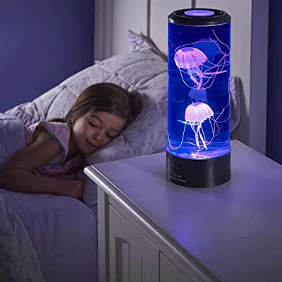Bambus LED Fantasy Jellyfish Lamp Round with 5 Color Changing Light Effects, Electric Jellyfish Tank Table Lamp with Color Changing Light Gift for Kids Men Women Home Deco: Health & Personal Care