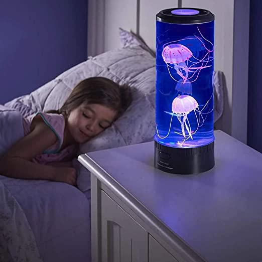 Amazon.com: HSada Electric Jellyfish Lamp - LED Fantasy Jellyfish Lamp  Round with 5 Color Changing Light Effects Jelly Fish Tank Aquarium Mood Lamp  Gift Home Office Room Desk Decor Lamp: Sports &