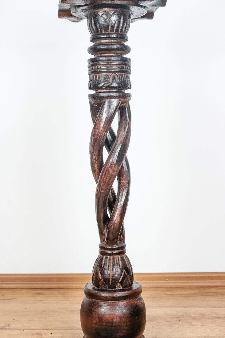 Dekos/äulen im Antik-Look livasia gedrehte Holzs/äulen 40cm Podest Blumens/äule