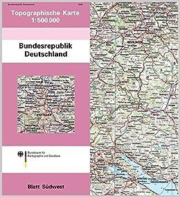 Topographische Karte Der Bundesrepublik Deutschland 1 500 000