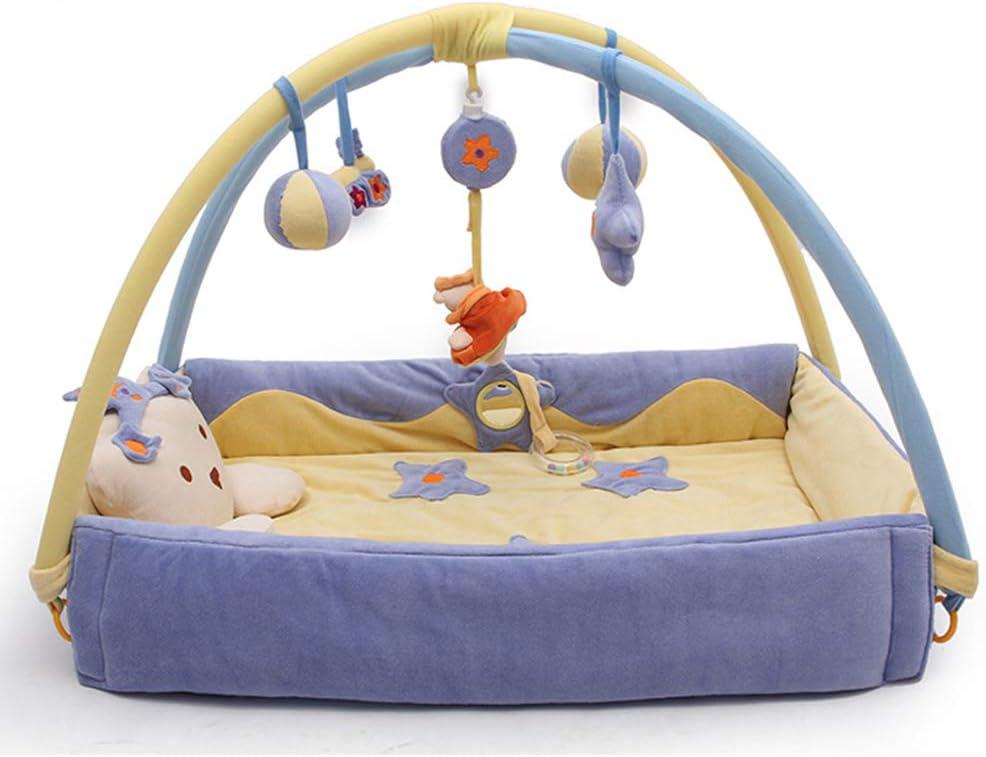 LVLONG Cuna recién Nacida de 0-2 años para Hombre y Mujer bebé Cambio de pañales de Viaje Dormir Manta, Cama Multifuncional/con música/extraíble 110x50cm