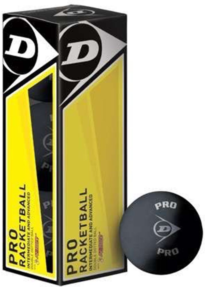 Dunlop Pro Sports Advanced Intermediate Player Racketball Squash Ball Pack Of 3