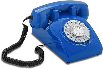 OPIS 60s Cable con Logo de Correos de España: Teléfono Estilo Retro/teléfono Vintage de los años Sesenta con Disco de marcar (Azul): Amazon.es: Electrónica