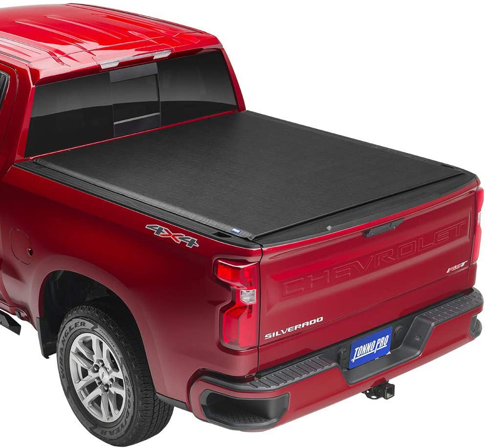 "Tonno Pro Lo Roll, Soft Roll-up Truck Bed Tonneau Cover | LR-2015 | Fits 2009-18, 19/20 Classic Dodge Ram 1500/2500/3500 6'4"" Bed"