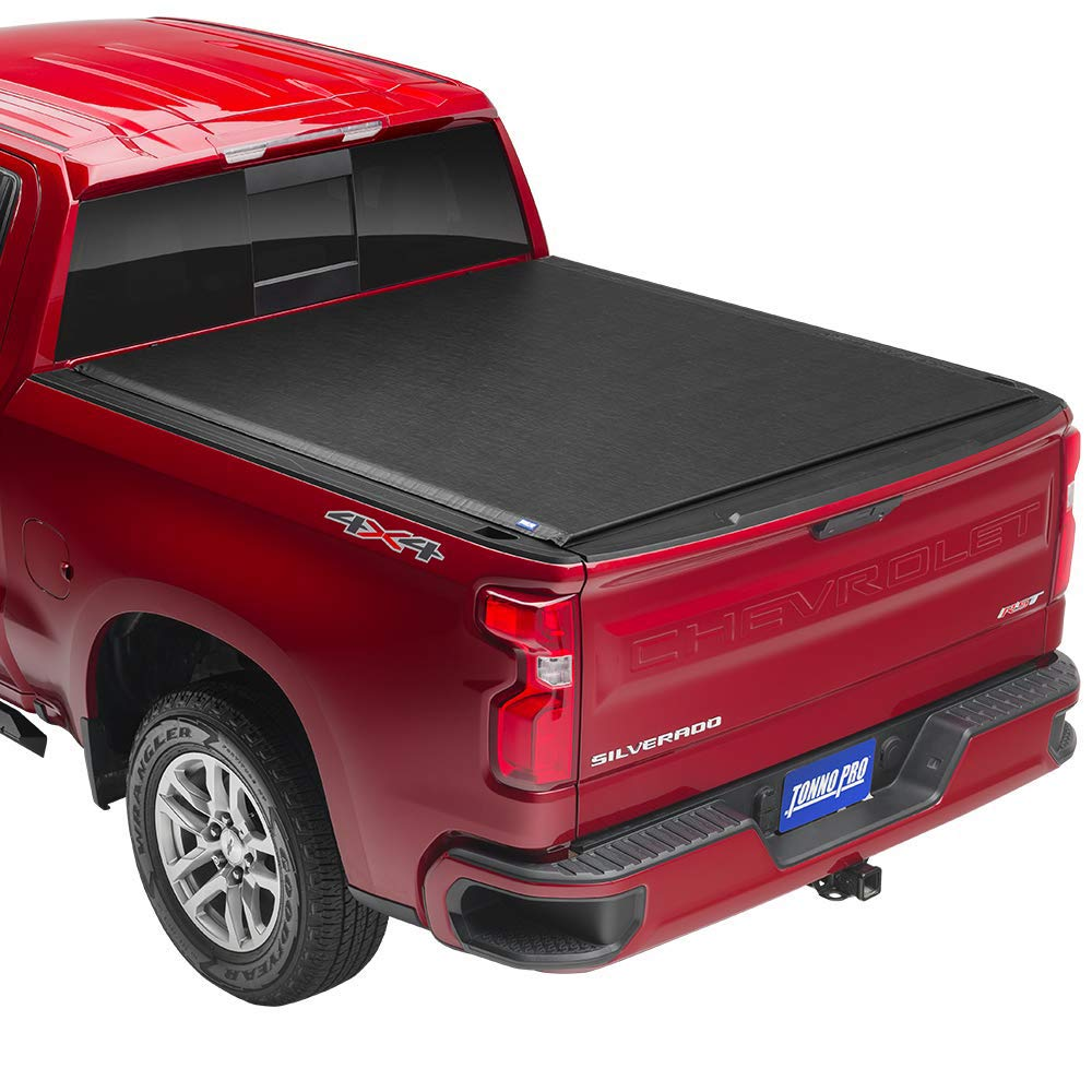 Tonno Pro LR-1095 Lo Black Roll-Up Truck Tonneau Cover/for 2019 Silverado 1500 with 5.8 Bed