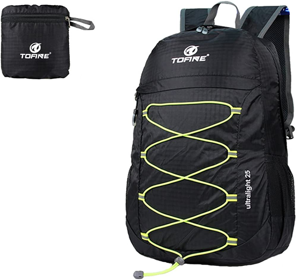 TOFINE Light Weight Waterproof Foldable Backpack Travel Camping Hiking Gear
