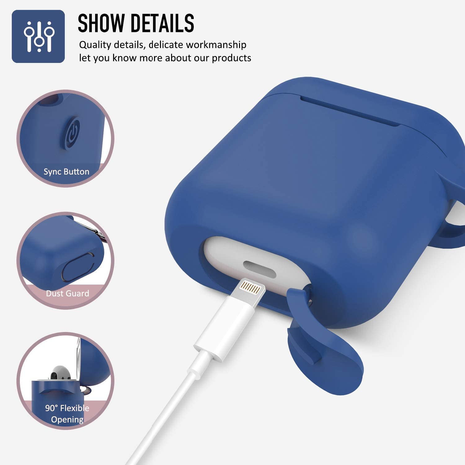 - Pink Airpods Case Front LED Not Visible Coffea AirPods Accessories Shockproof Case Cover Portable /& Protective Silicone Skin Cover Case for Airpods 2 /& 1