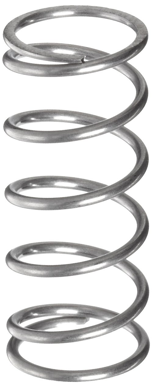 0.42 OD Compression Spring 316 Stainless Steel 0.038 Wire Size Pack of 10 0.349 Compressed Length 4.06 lbs Load Capacity 0.625 Free Length 15 lbs//in Spring Rate Inch