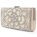 Women Clutch Evening Bag Elegant Classic Shoulder Bag Luxurious Handbag Purse (Gold AB)