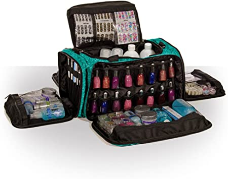 beautcians et Manicurist Maquillage outil sac Maquillage Professionnel Roo Beauty Trousse Sacs /Imperial Violet au design Glamour/