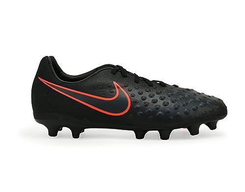 f5b556065413 Nike Kids Magista Opus II FG Black Total Crimson Soccer Shoes - 1Y