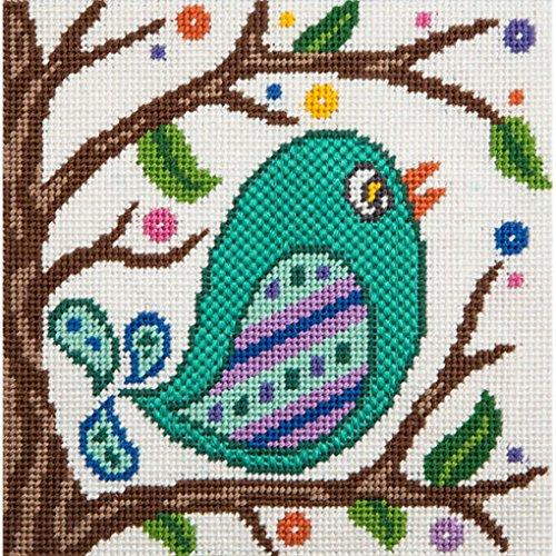 Canoodles-- Songbird-- Needlepoint Kit - Fun Mini Needlepoint Kit