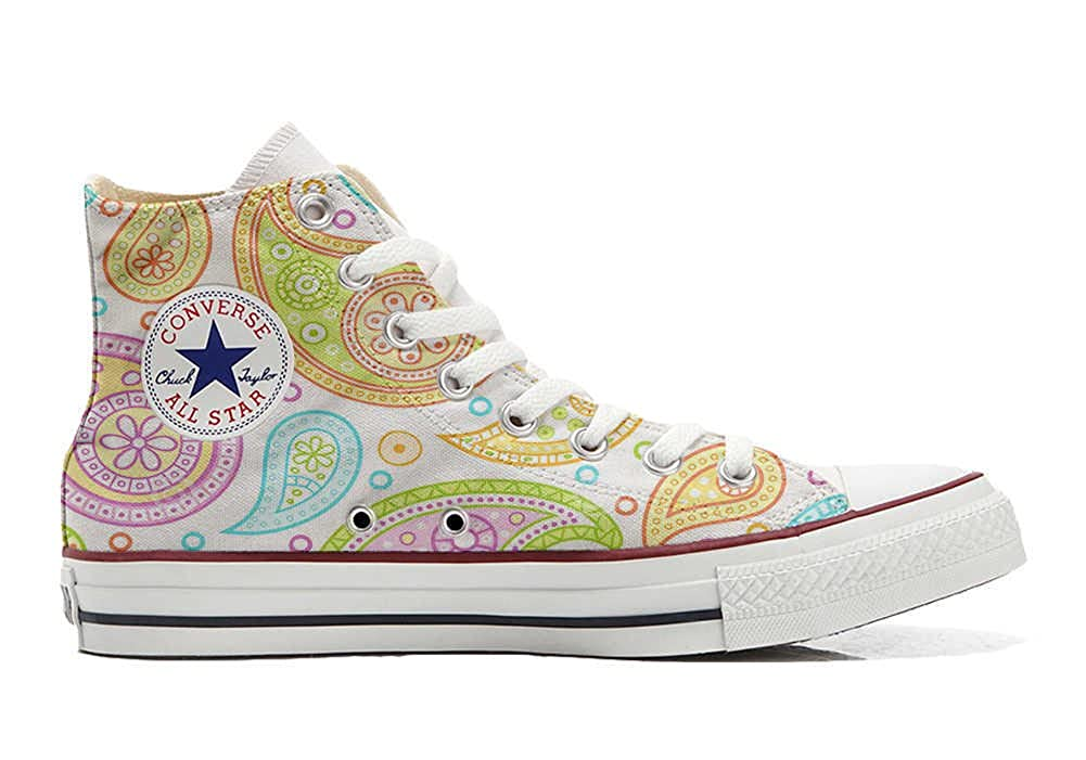 Mys Converse All Star Customized Unisex - Personalisierte Schuhe (Handwerk Produkt) Farbeful Paisley -