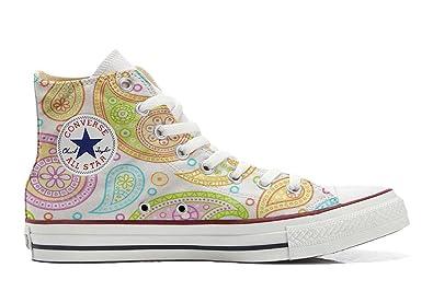 Make Your Shoes Converse Customized Adulte - chaussures coutume (produit artisanal) Decor Paisley size 38 EU KnqcUdtO