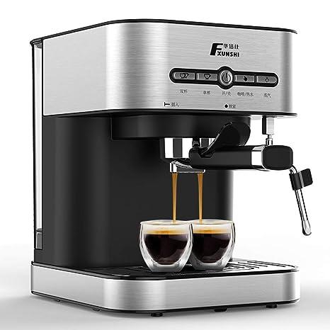GJM Shop Máquina De Espresso 1.4L Casa Semiautomático 15 Pa Presión Tipo De Vapor Maquina