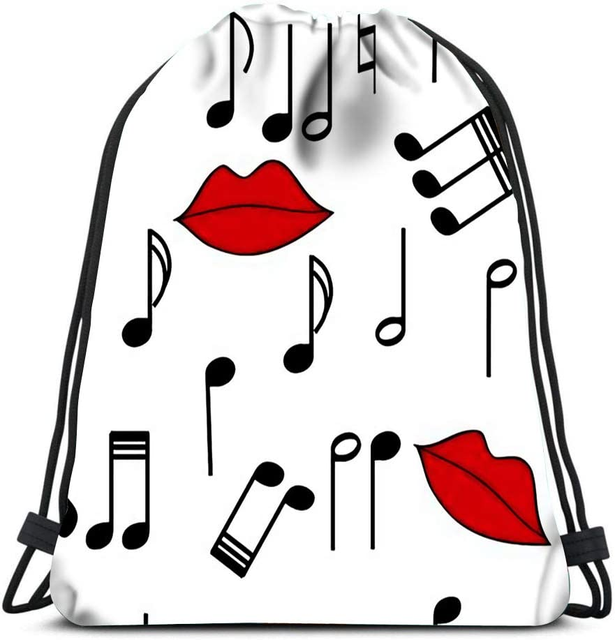 Drawstring Backpack Valentine Kiss Laundry Bag Gym Yoga Bag