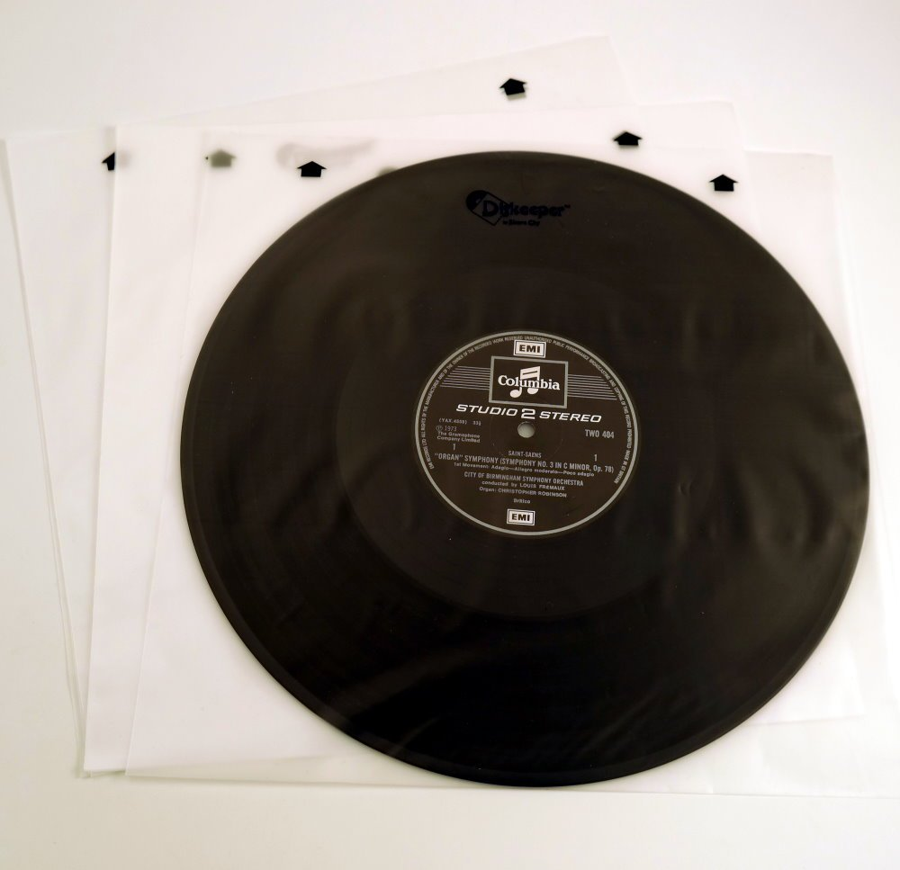 Crease-Resistance 100 Count Bcw 1-rslv 33 Rpm Record Sleeves