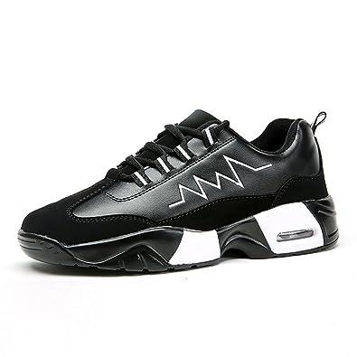 Chaussures athlétiques de Tissu de Maille de Talon Plat pour des Femmes et des Hommes,Chaussures de Cricket (Color : Black Pink, Size : 36EU)