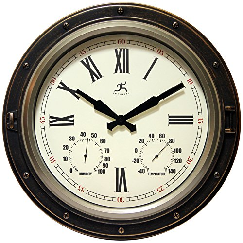 (Infinity Instruments The Forecaster Clock, Bronze )
