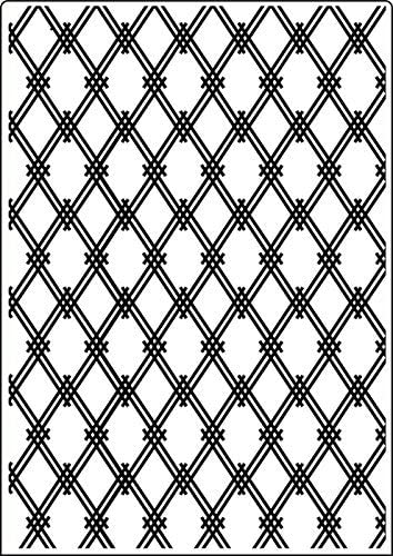 Modern Lattice A4 Embossing Folder by Crafts Too
