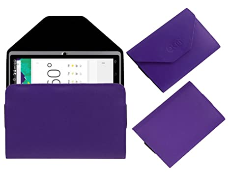 Acm Pouch Case Compatible with Domo Slate X15 Quadcore Flip Flap Cover Holder Purple Tablet Accessories