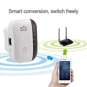Dailyinshop WiFi Range Extender 300Mbps Repetidor inalámbrico de WiFi Mini Amplificador de señal portátil Amplificador de señal Ap de Punto de Acceso ...