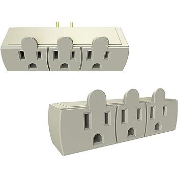 6 Outlet Extender Wall Adapter Multi Plug Splitter
