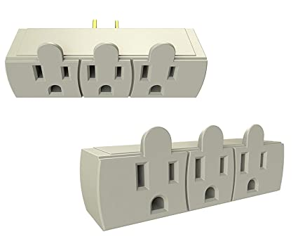 Outlet Adapter Converter Extender Grounded Three / 3 Prong Plug ...
