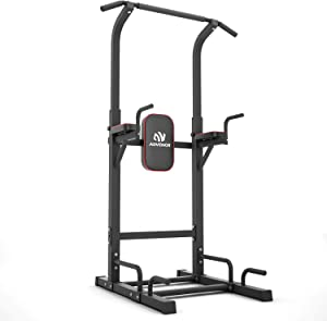 ADVENOR Power Tower Dip Station Pull Up Bar for Home Gym Dip Stands Strength Training Workout Equipment
