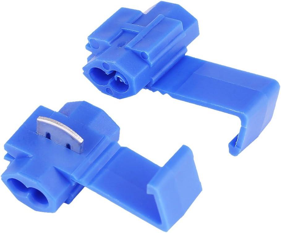 50pcs Terminales Conector de borne de inalámbrico, keenso bornes epissure rápido cable eléctrico cable clip terminales de engaste azul
