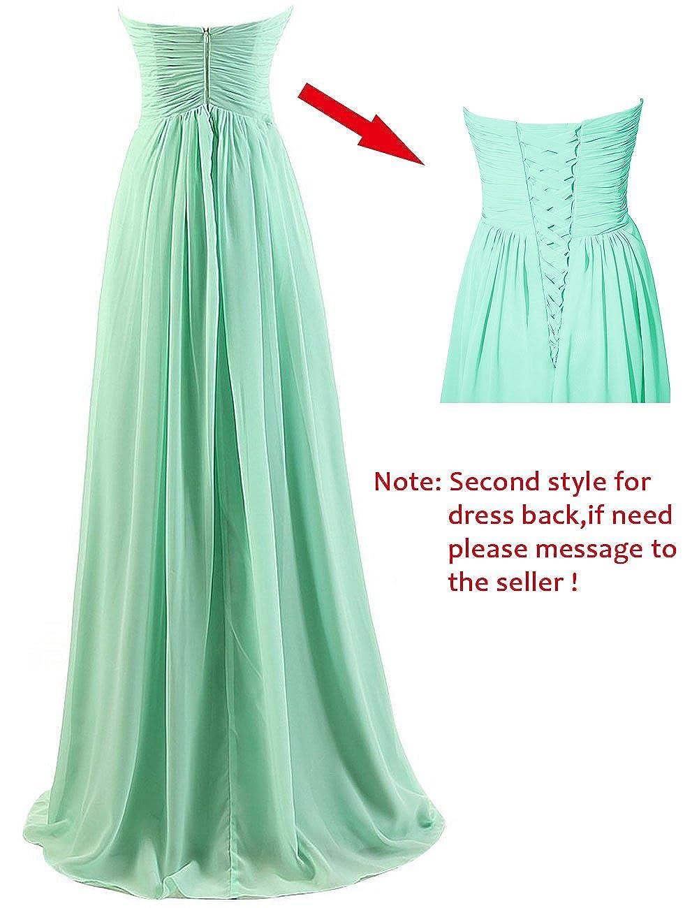 Cdress Chiffon Sweetheart Long Bridesmaid Dresses Plus Size Prom ...