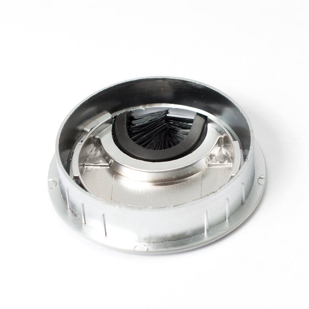 | Sossai KDM1-AL Passe-c/âble//passage de c/âble//passe-fil avec brosse pour bureau 1 pc Design : aluminium Mat/ériau : m/étal Diam/ètre : 60 mm table /& plan de travail