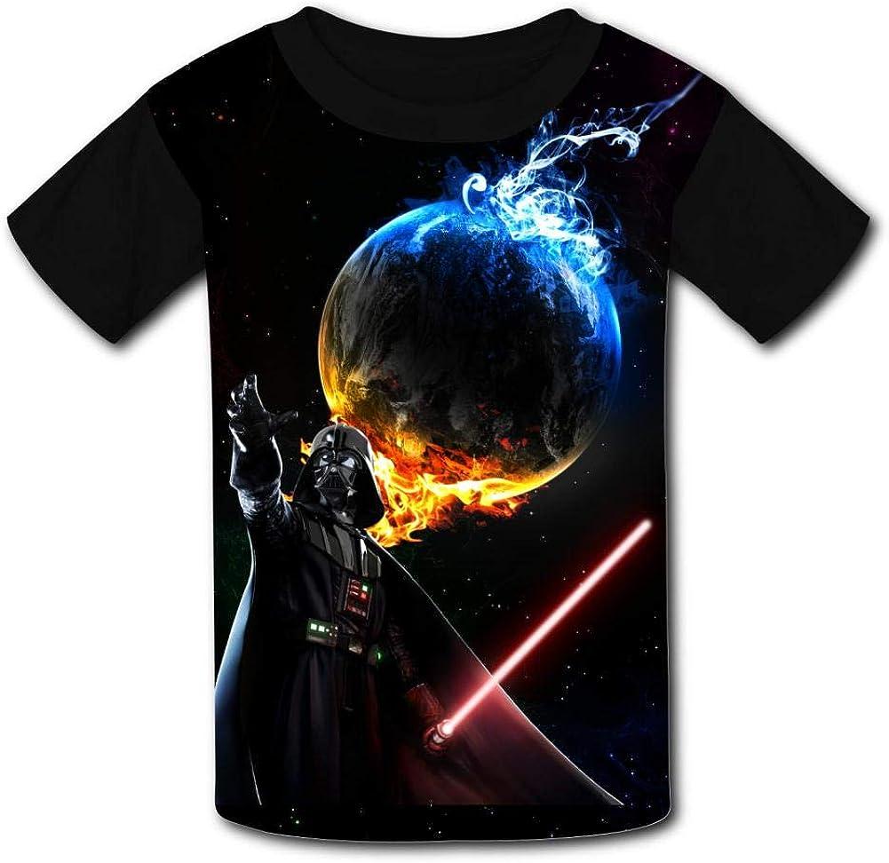 Netio Darth Vader Basic Daily Wear Cute Graphic Raglan T Shirts for Boys and Girls