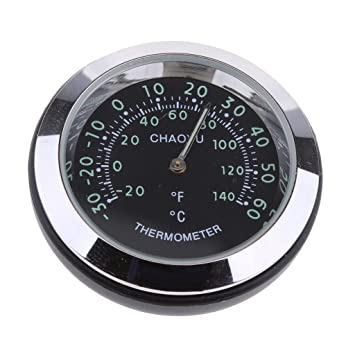 hoher Genauigkeit um 360 Grad gedreht non-brand Thermometer f/ür Auto innen oder au/ßen Schwarz