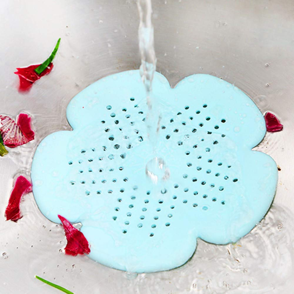BeautyShe Sakura Kitchen Silicon Strainers Sink Basket, Hair Catching Helper, Antifouling & Durable Long Lasting