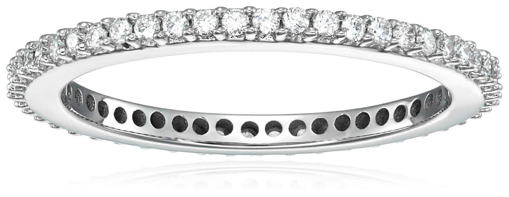 Vir Jewels 1/2 cttw Diamond Eternity Ring 14K White Gold Wedding Band Size 7.5 by Vir Jewels