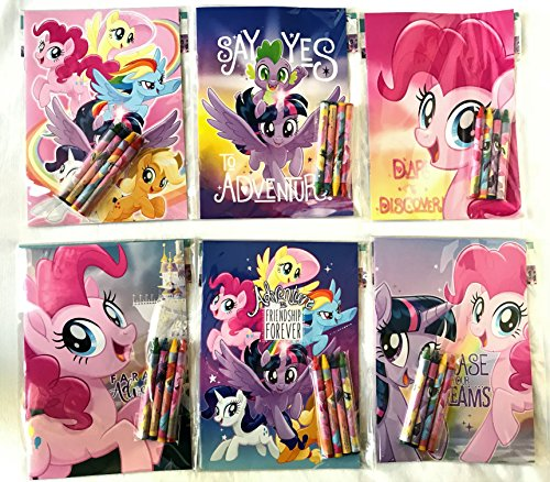 My Little Pony Party Favors Coloring Book & Crayon Set 12 Pack ( Assorted Style) ()