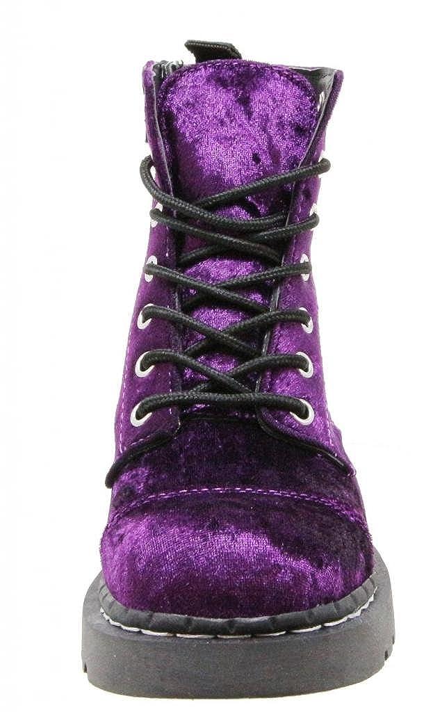 9bbb69632f4f7 T.U.K. Shoes T.U.K. Shoes Anarchic 7 Eye Purple Velvet Combat Boots EU42 /  UKW9: Amazon.co.uk: Shoes & Bags