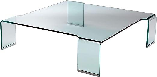 Mod. Flower - mesa baja en vidrio curvo: Amazon.es: Hogar