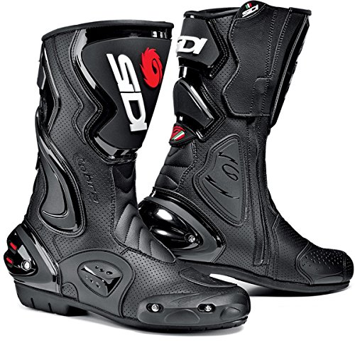 SIDI COBRA AIR MOTORCYCLE BOOTS (BLACK, SIZE 11.5 / 46) (Vented Motorcycle Boots)