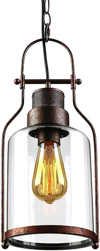 Luminaire suspendu à 1 ampoule Vintage Lighting au fini
