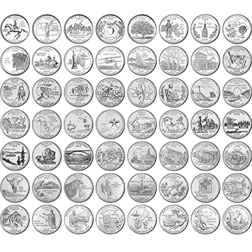 Amazoncom Complete Uncirculated State Quarter Set - Complete 50 state quarter set